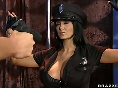 Busty police officer Ava Addams longing for rock hard stick