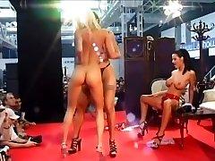 Three Mischievous Women Grind Naked On Stage