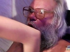 Teen Sensual Cock Massage and Labia fuck with big dick grandfather super hot