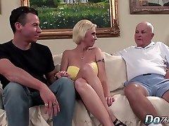 Blonde MILF wife huge cock rectal creampie