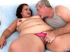 Fat woman takes fat pecker