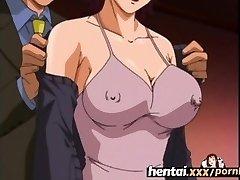 Hentai.xxx - Busty MILF'S First Threesome