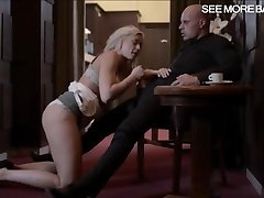 Erotic hot blonde babe Victoria Redd deep-throats off and pounded