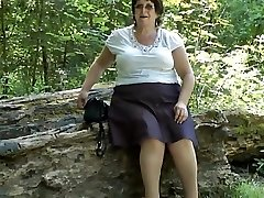 Upskirt bum in the forest part two
