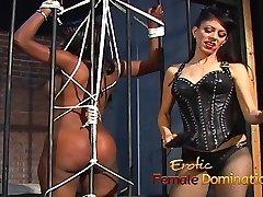 Jailed black dame punished by mistress Natasha after being