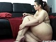 German Plus-size PAWG Samantha is teasing while she is smoking a ciggie