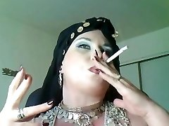 Goddess Bella Donna,a plumper smoking gypsy Princess.