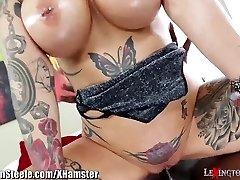 Big Tits Tatted MILF on HUGE Black Pecker