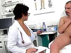 Dirty czech cougar Gabina is naughty doctor in cfnm act