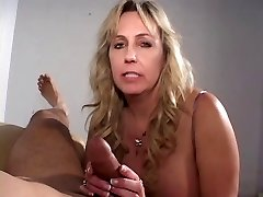 Mature cigarette smoking rod sucking grandma gets a load on her tits