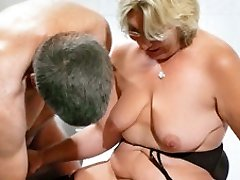 German Grandmother takes a young cock - MMVFilms