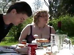 BBW BBQ DP Facial Cumshot outdoor