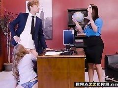 Big Tits at Work - Porn Logic vignette starring Angela Milky, L