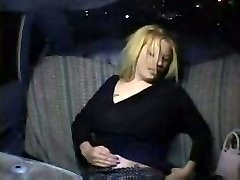 Horny Blonde in Taxi Cab