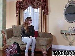Busty Cougar Lexi Luna strapon fucks cute teenager Stoney Lynn