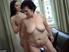 OldNanny Marvelous girl masturbate hairy granny pussy