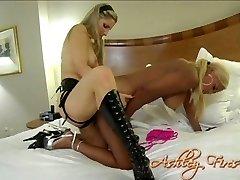 Ebony biotch with big boobs banged bad with strapon