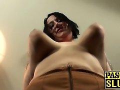 Tattooed BBW fat arse milf slut gets her meat holes tucked