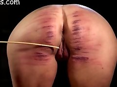 Girls ass violently caned
