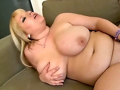 Chubby Blonde Stroking