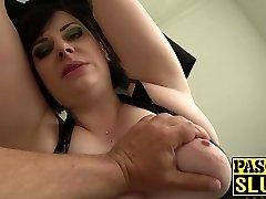 Chubby mature woman Elouise Fervor deepthroat and rough sex