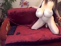 Big Tits Milf Blows Faux-cock On Cam