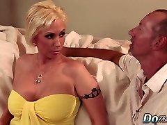 Blonde MILF wife large salami anal creampie