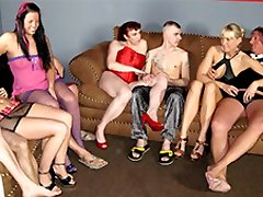 Claudia W & Cool Jessy & Daniela Ad in Inexperienced German Homemade Orgy - MMVFilms