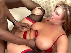 Obese MILF nailed by a black guy