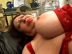 Fat mature deep throating on Strap-on
