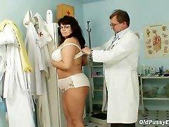 Busty mature woman Daniela tits and mature beaver gynecology exam