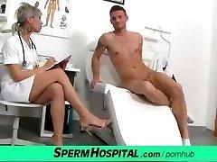 CFNM fuck-stick medical exam with sexy Czech MILF medic Beate