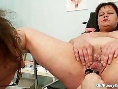 Big boobies mom real gyno check up