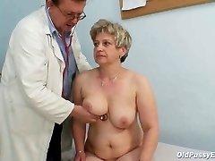 Mature fat pussy Ruzena gyno ass-plug bizzare hospital exam