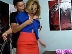 Blonde mom compelled fuck by young son