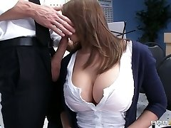 Busty babe Madison Fox plays the flute and deepthroats big lollipop of her tutor
