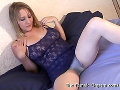 MILF with Yam-sized Pussy Lips and Doused Wet Orgasm Contractions