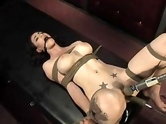 Natalie bound and machine torn up