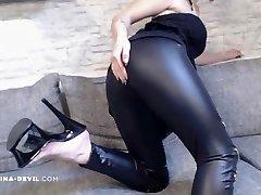 NEUES VIDEO!! LEDER Stretch Pants