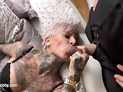 My Grubby Hobby - Tattooed MILF swallows immense dick