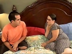 Sexy BBW Mommy Seduces Horny Young Guy