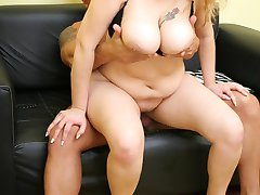 Cute BBW model Luana show off her fat tits and made good use of it to empty out a cock