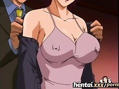 Hentai.xxx - Big-titted Cougar'S First Threesome