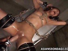 Chinese restrain bondage fucking machine