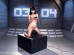 Lovely Asian Pulverizes Dildo Machines