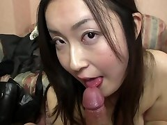 Subtitled Japanese gravure model hopeful POINT OF VIEW fellatio in HD