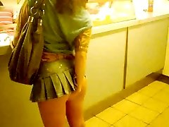 Pinkfluff  No Thongs Upskirt In Japanese Takeaway