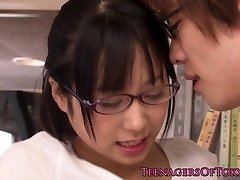 Virginal asian firsttimer geek humping in glasses