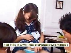 Miyu Hoshino asian schoolgirl luvs getting pussy fingered