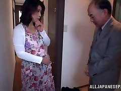 Super Hot Japanese model gets screwed in all her holes